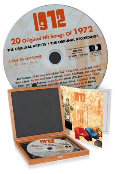 CD 1972 Musik-Hits in Luxusbox